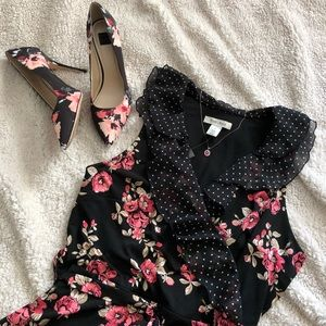 WHBM Dress and Pumps